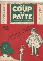 LE COUP DE PATTE JOURNAL SATIRIQUE ILLUSTRE N°25 OCTOBRE 1931 - Politics