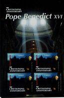 TANZANIA  2010 5 ANNIVERSARY POPE BENEDICT XVI MINI SHEET MNH VF!! - Teologi