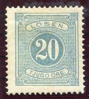 SWEDEN 1874-77 Postage Due 20 Öre Perforated 14 LHM / *.  Michel 6A - Impuestos