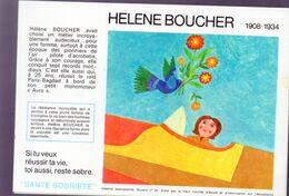 (aviation) Buvard Du Comité Antialcoolique:n°26 : HELENE BOUCHER   (M0644) - Transport