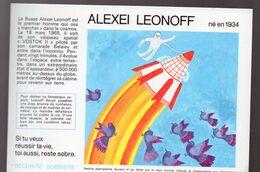(aviation -espace) Buvard Du Comité Antialcoolique:n°29: ALEXEI LEONOFF (M0642) - Transport