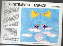 (aviation -espace) Buvard Du Comité Antialcoolique:n°30: LES VISITEURS DE L'ESPACE  (M0641) - Transport