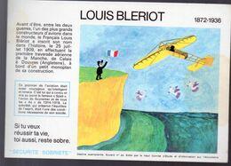(aviation ) Buvard Du Comité Antialcoolique:n°24: LOUIS BLERIOT  (M0639) - Transport