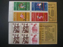 Deutschland BRD- Markenheftchen Olympische Sommerspiele Mi.Nr. 17** Postfrisch Und Unfallverhütung Mi.Nr. 16** Postfr. - Booklets