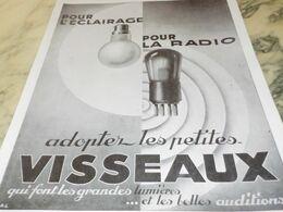 ANCIENNE PUBLICITE POUR ECLAIRAGE OU RADIO  LAMPE  VISSEAUX  1929 - Altri