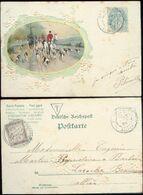 07531 Frankreich Prägekarte Reiten Jagd Tax Marke 1904 - Brieven En Documenten