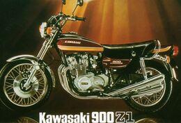 Kawasaki 900 Z1   -  Publicite D'epoque 1976 -  CPM - Moto