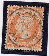"Yvert N°23 40 C Orange Càd ""Tarascon"" TB. - 1862 Napoléon III"