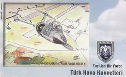 Turkey, TR-C-192, Turkish Air Force, CF-104D Supersonic Trainer Fighter 1986-94, Airplane, 2 Scans. - Türkei