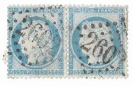 TIMBRES N° 60/1; N° 133/134 A2; PAIRE ; 2ème état ;TB - 1871-1875 Cérès