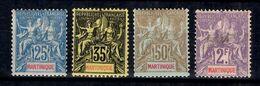 Martinique YT N° 47/50 Neufs *. B/TB. A Saisir! - Martinique (1886-1947)