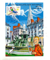 Carte Fdc 1977 Nantes Philexjeunes - FDC