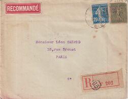 "FRANCE : TYPE SEMEUSE PERFORE . 2 EX . REC . PHT . "" PHILIPPE TROEDER "" . PARIS . 1917 . - Francia"