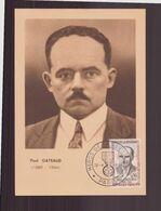 """France, Carte Avec Cachet Commémoratif """" Héros De La Résistance """" Paul Gateaud Du 22 Avril 1961 à Paris - Commemorative Postmarks"""