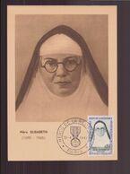 """France, Carte Avec Cachet Commémoratif """" Héros De La Résistance """" Mère Elisabeth Du 22 Avril 1961 à Paris - Commemorative Postmarks"""