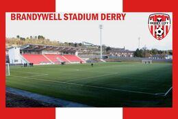 CARTE DE STADE DE.   DERRY  IRELANDE  DU  NORD   THE  BRANDIWELL  STADIUM # CS. 808 - Soccer