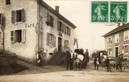 LE THILLOT INTERIEUR DU VILLAGE CAFE ... (CARTE PHOTO ) - Le Thillot