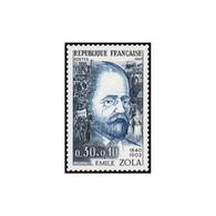 Timbre N° 1511 Neuf ** - Célébrités. Emile Zola. - Francia