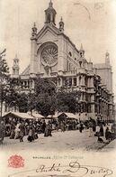 BRUSSEL / BRUXELLES / LE MARCHE DEVANT L EGLISE STE CATHERINE 1909 - Markten