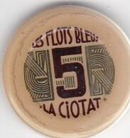 ANCIEN JETON  5 FRANCS / CASINO DE LA CIOTAT / LES FLOTS BLEUS - Casino
