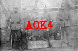 68 Haut Rhin LUTTERBACH Mulhouse Fussartillerie Kugelhelm 1915 Feldpost Gewehr 88 Seitengewehr - Altri Comuni