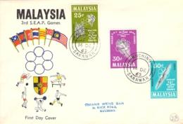 FDC 3rd S.E.A.P. Games Malaysia 14.DEZ.65 - Malaysia (1964-...)