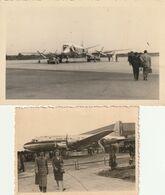 Lot De 2 -  Photo 100 Mm X 73 Mm Et Une CP Photo  Années 50 - Avion Aviation Civile Atlas  - Scan R/V - Aviation