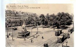 BRUSSEL / BRUXELLES / PORTE DE NAMUR / TRAM / TRAMWAYS  1914 - Piazze