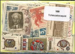 Lot 100 Timbres Tchécoslovaquie - Kilowaar (max. 999 Zegels)