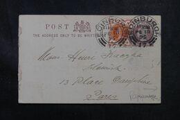 ROYAUME UNI - Entier Postal Commercial ( Repiquage Au Dos )+ Complément De Edinburgh En 1895 Pour Paris - L 68876 - Postwaardestukken
