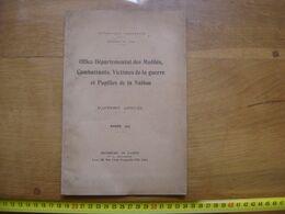 RAPPORT ANNUEL Mutiles Combattants Victimes De La Guerre Pupilles De La Nation - Libros, Revistas & Catálogos