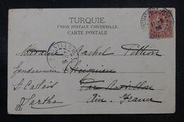 LEVANT FRANÇAIS - Affranchissement Type Mouchon De Constantinople Sur Carte Postale En 1906 Pour La France - L 68877 - Lettres & Documents