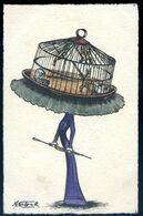 Cpa Illustrateur Molynk Femme Au Chapeau Cage Aux Oiseaux  AVR20-173 - Altre Illustrazioni