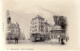 BRUSSEL / BRUXELLES / PORTE DE LOUVAIN / TRAM / TRAMWAYS 1908 - Marktpleinen, Pleinen