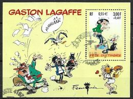 FEUILLET N°  34   -  GASTON LAGAFFE    - OBLITERE   -  2001 - Used
