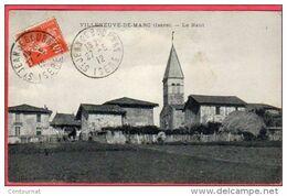 CPA 38 VILLENEUVE DE MARC Le Haut ( Du Village église Dans Canton De ST JEAN DE BOURNAY - Frankrijk