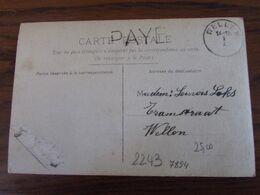 1918-19: Carte Fantaisie Avec Mention De FORTUNE :  PAYE. Bureau De WELLEN - Fortuna (1919)