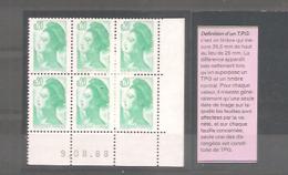 LIBERTE 1982. Coin Daté X 6 TP. N°2181** émeraude. Daté 9.08.88. Avec TPG ( Les 3 Timbres Du Bas Plus Grands). TB. - 1980-1989