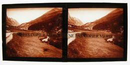 VAL D'ISERE 73 SAVOIE En 1934 Route De La Baillette PHOTO PLAQUE DE VERRE Stéréo Cliché Amateur - Glass Slides