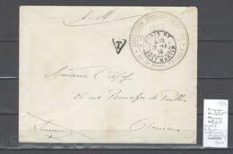 Lettre  Avec Cachet Hopital Hispano Americain De Neuilly - Seine - 1914 - Rare - Postmark Collection (Covers)