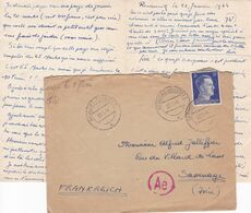 ALLEMAGNE 1944 WW2 TIMBRES 25 Pfg SERIE ADOLF HITLER TAMPON A DATE GLABONZ ET TAMPON ROUGE Ae - Germania