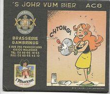 SOUS BOCK BIERE BRASSERIE GAMBRINUS / L'ALSACIENNE - MULHOUSE - Sotto-boccale