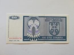 BOSNIA ERZEGOVINA 100 DINARI 1992 - Bosnia Erzegovina