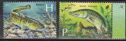 Weißrußland Belarus 2011 - Mi.Nr. 870 - 871 - Postfrisch MNH - Tiere Animals Fisches Fishes - Fische
