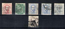 España Nº 117/18 Y 121/23. Año 1872 - 1872-73 Reino: Amadeo I
