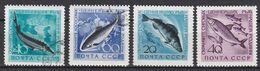 Sowjetunion CCCP 1959/60 - 4 Marken - Tiere Animals Fisches Fishes - Fische