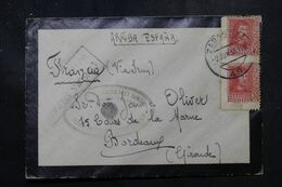 ESPAGNE - Enveloppe De Zaragoza Pour La France En 1938 Avec Cachet De Censure - L 68908 - Marques De Censures Nationalistes