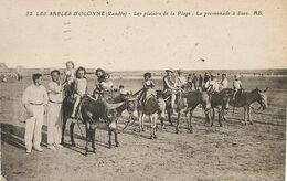 Jeu De Plage Aux Sables D' Olonne  Promenade à Ane . Donkey . Enfants. Envoi à St Aignan Sur Cher - Donkeys