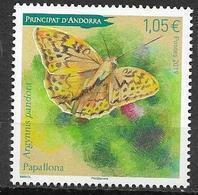 FRENCH ANDORRA, 2019, MNH, BUTTERFLIES, 1v - Schmetterlinge