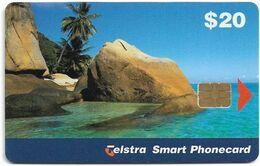 Australia - Telstra (Chip) - Fantome Island - Exp. 02.2001, 20$, 87.500ex, Used - Australië